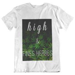 T-shirt high et fines herbes